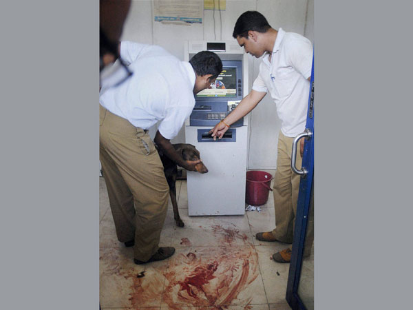 ATM assailant still at large