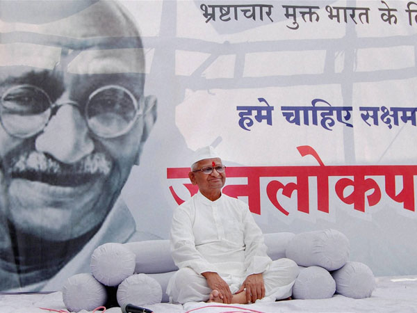 Hazare's fast enters day two