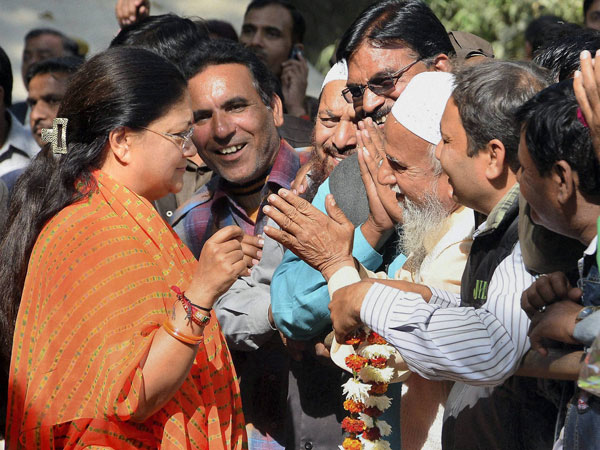 Raj: Vasundhara Raje to be sworn in