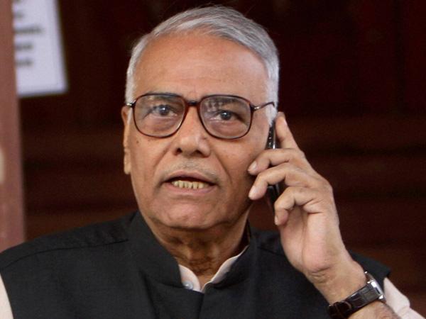 Yashwant Sinha hits out at US