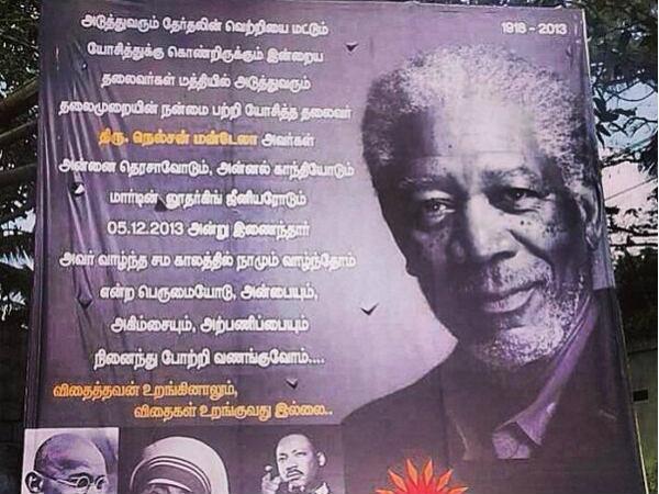 Morgan Freeman mistaken for Mandela