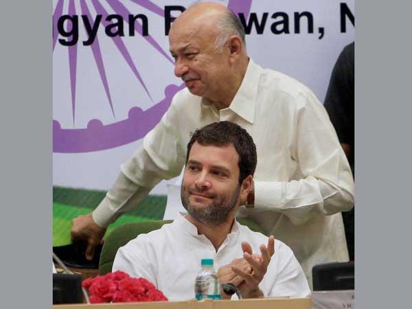 Congress workers congratulate Rahul