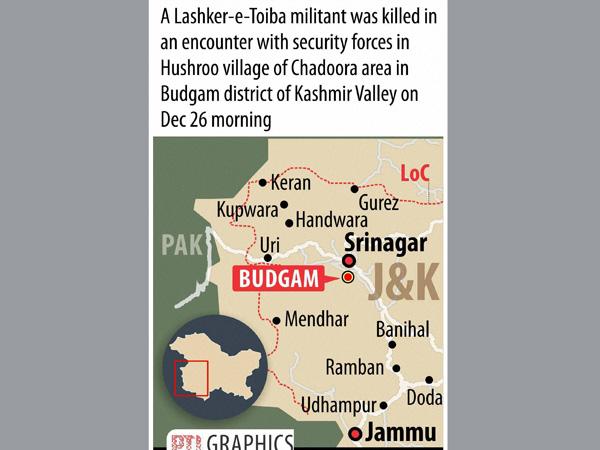 Lashkar militant killed in Kashmir