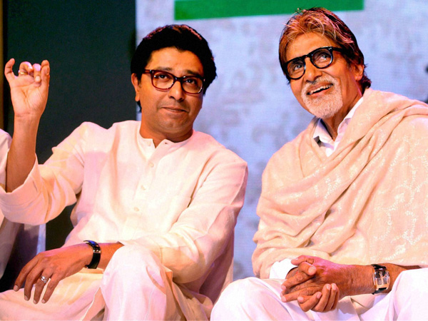 Raj Thackeray with Amitabh Bachchan
