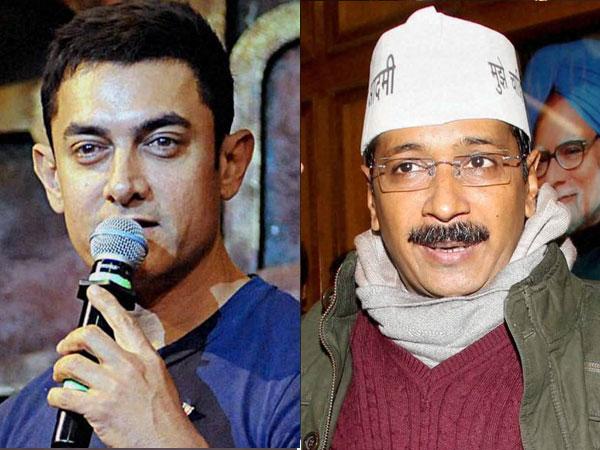 Aamir Khan and Arvind Kejriwal