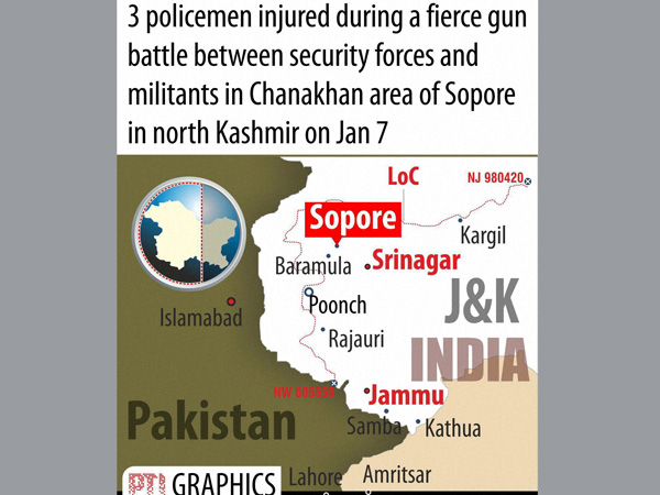 Gun fire in Sopore