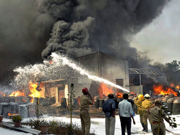 Fire breaks out at chemical factory