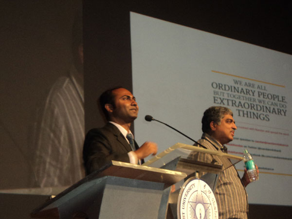 Nandan Nilekani during Q&A round