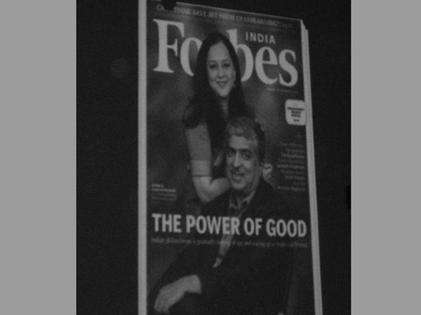 Mr. and Mrs. Nilekani on Forbes