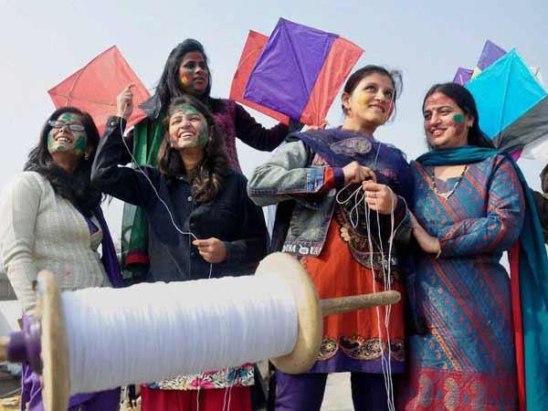 Kite-flying festival in various cities