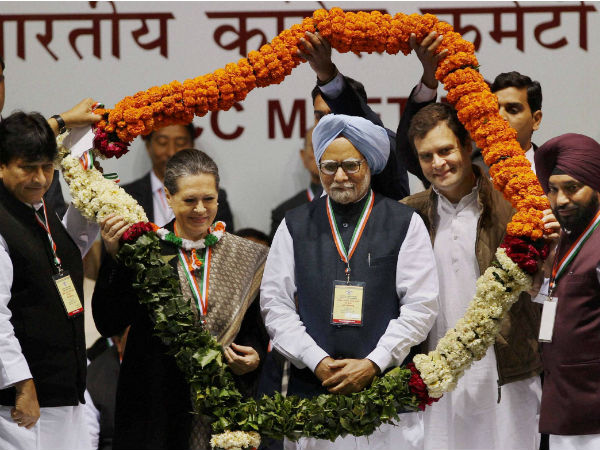 At the AICC meeting in New Delhi