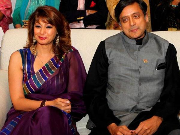 Shashi Tharoor with wife Sunanda Pushkar