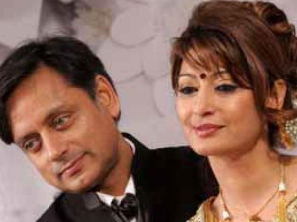 Shashi Tharoor and wife Sunanda Pushkar