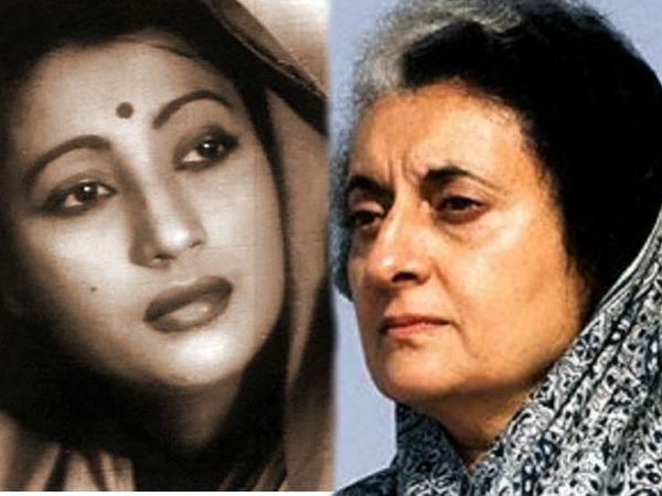 Suchitra Sen and Indira Gandhi