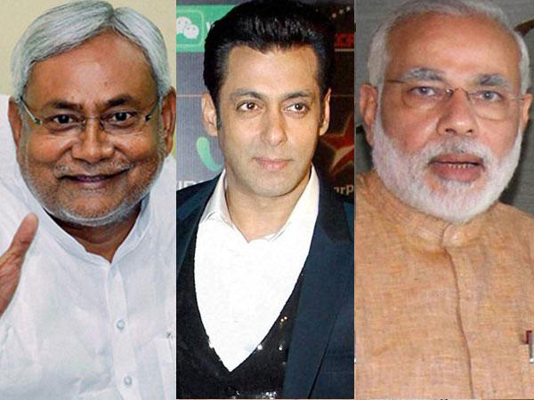 Nitish Kumar, Salman Khan, Narendra Modi