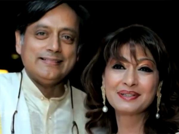 Sunanda Pushkar with her husband Shashi Tharoor