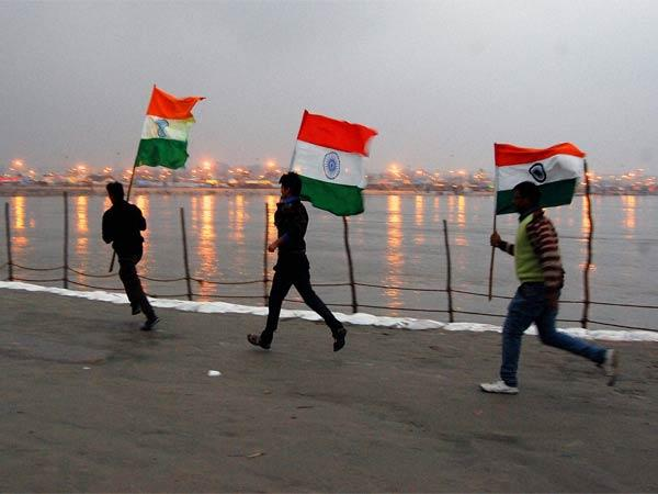 Maagh Mela- Tricolour in Allahabad, UP