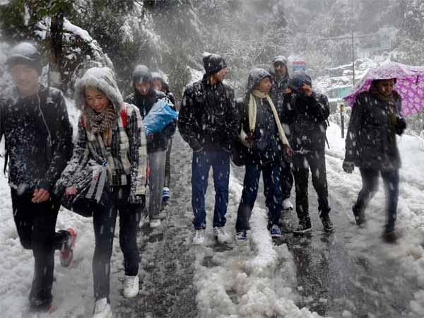 Bone chilling cold in Mussoorie