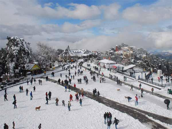 Tourists in Shimla