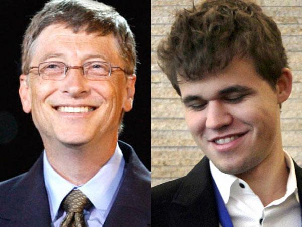 Carlsen defeats Bill Gates in 1 minute