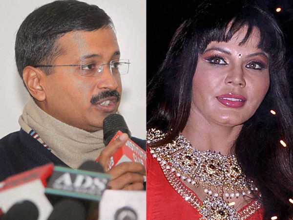 Kejriwal and Rakhi Sawant
