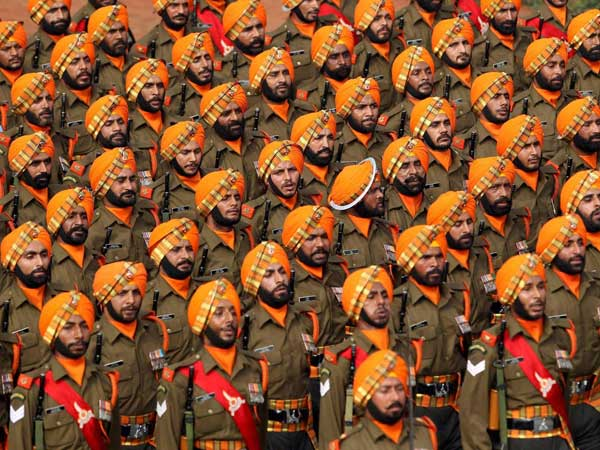 Military strength show on Republic Day