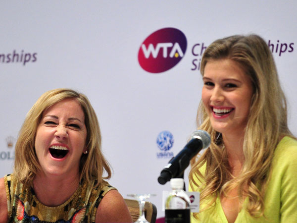 WTA press conference in Singapore