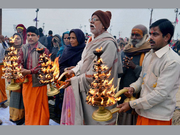 In pics: Devotees take holy dip in Ganga on Mauni Amavasya