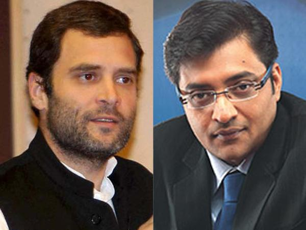 When with Arnab Goswami, Rahul Gandhi's body language may say it all