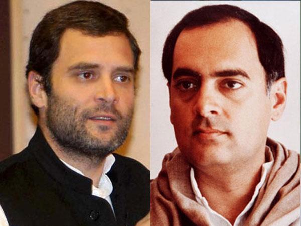 Rahul Gandhi and Rajiv Gandhi