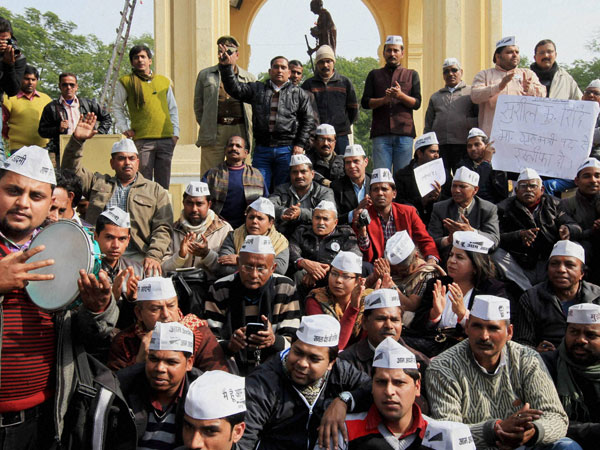AAP protests against illegal rackets
