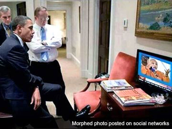 Barack Obama watching