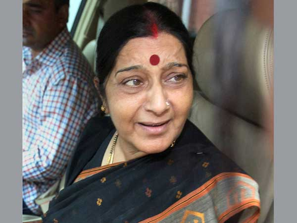 Sushma Swaraj's oops moment in LS