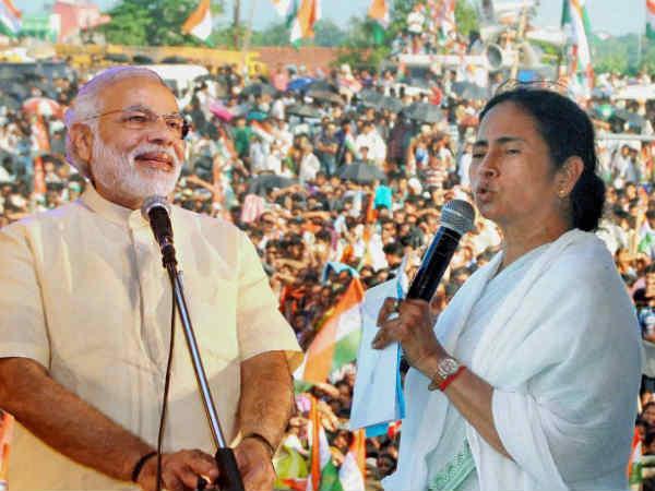 Narendra Modi and Mamata Banerjee