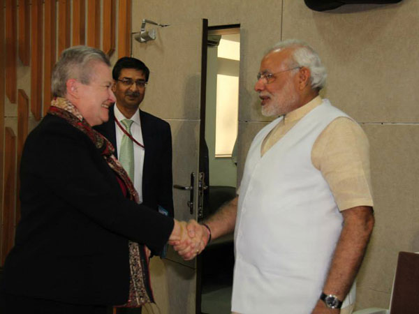 Modi meets Nancy