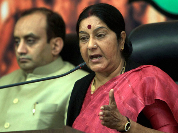 BJP will cancel projects affecting course of Ganga: Sushma Swaraj