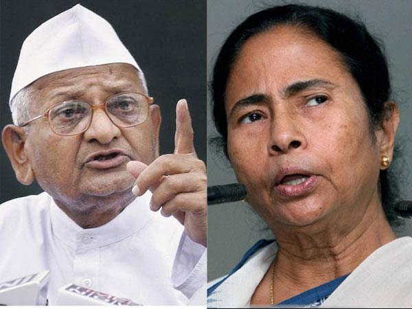 Anna Hazare and Mamata Banerjee