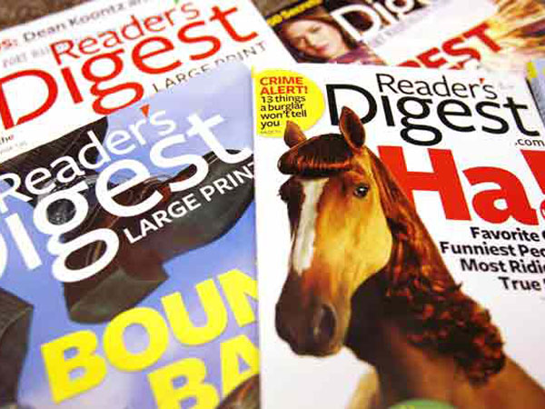 Reader's Digest sold for 1 Pound