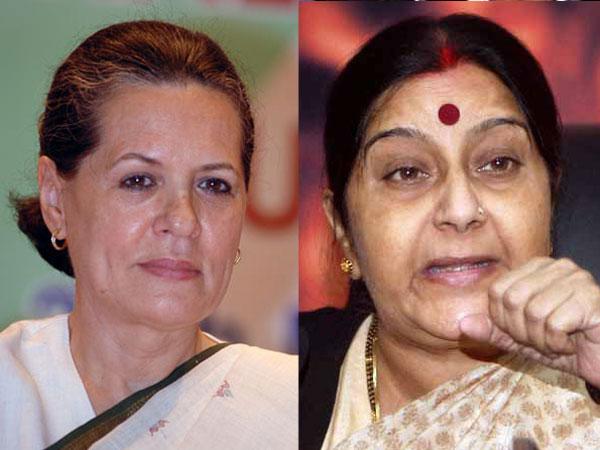 Sushma praises Sonia on last day of LS