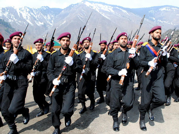 New recruits of Jammu and Kashmir armed police