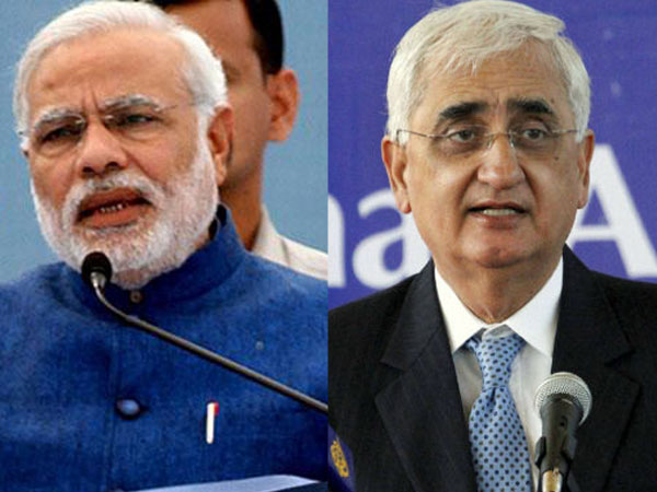 Narendra Modi and Salman Khurshid