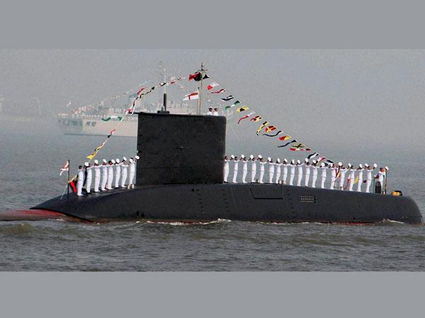 Fire at sub-marine