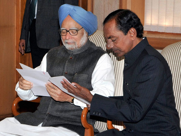 PM with TRS chief