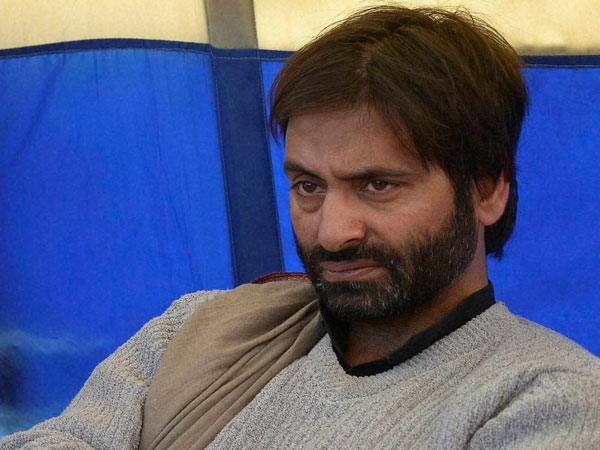 Yasin Malik detained during protest