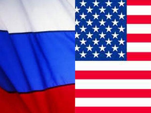 Russia-US flag
