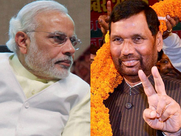 Modi, Paswan to share stage at Bihar rally today