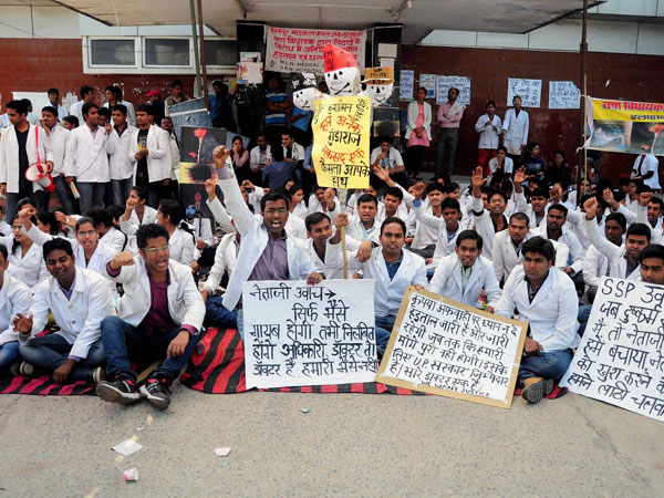 Doctors strike in Lucknow continues
