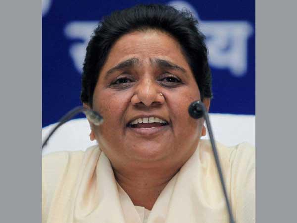 Mayawati in Chandigarh on Mar 30