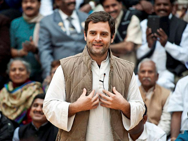 Rahul Gandhi interacts with mine workers