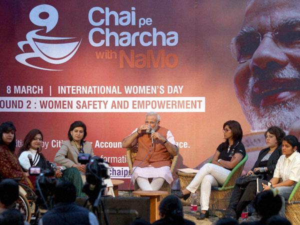 Narendra Modi at Chai Pe Charcha programme